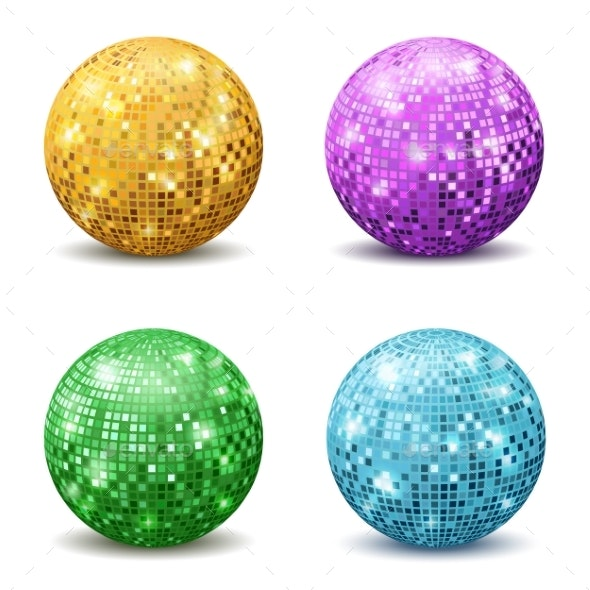 Color Disco Balls - Man-made Objects Objects