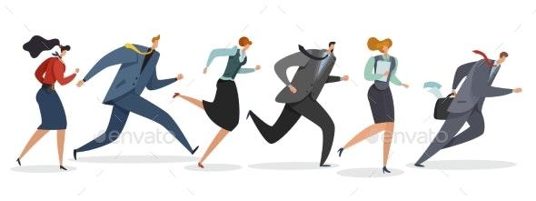 Business Team Running.  - Business Conceptual