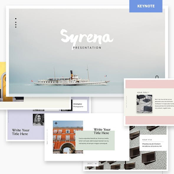 Syrena - Minimal Keynote Template