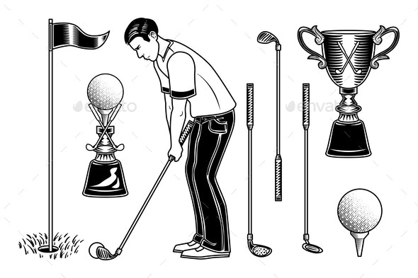 Golf Set - Sports/Activity Conceptual