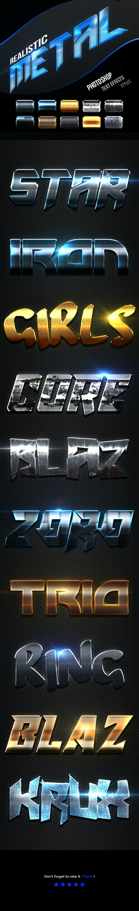 Realistic Metal Text Effects Vol.2 - Text Effects Actions