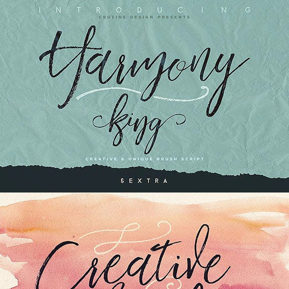 Harmony King - Brush Font