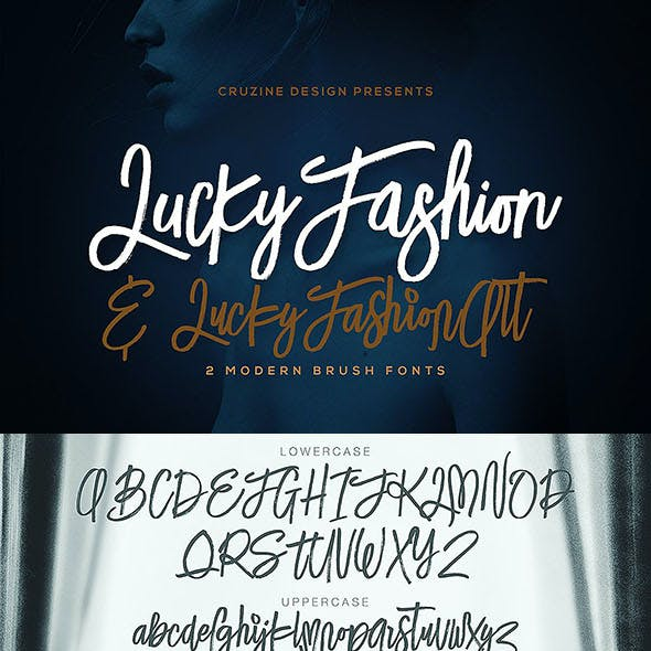 Lucky Fashion Brush Font