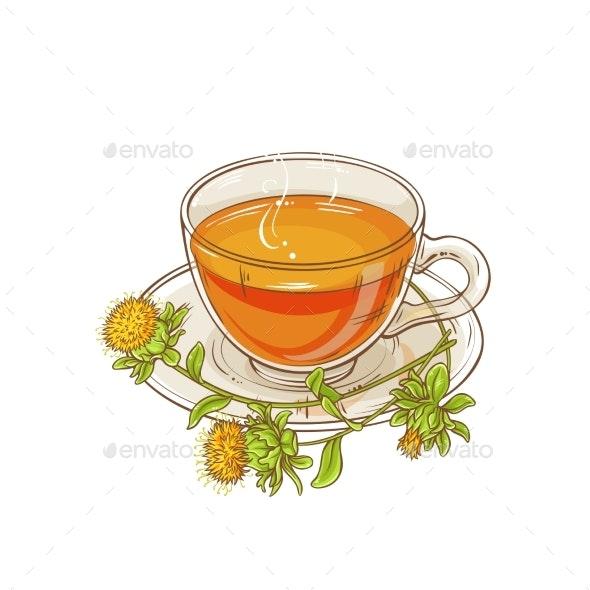 Safflower Tea Illustration - Food Objects
