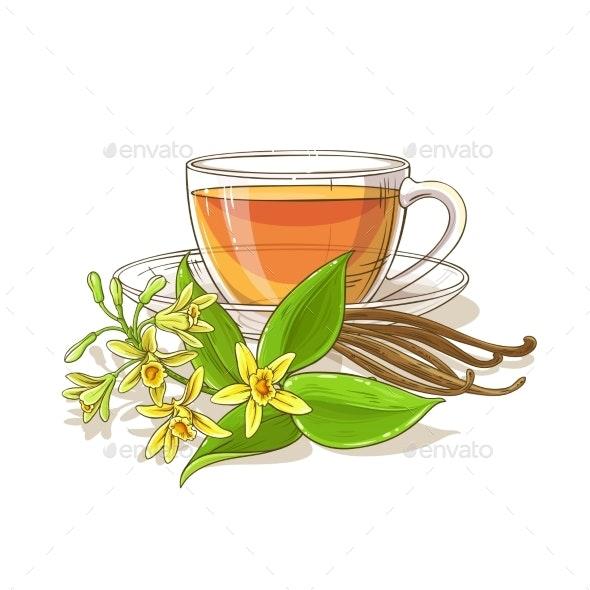 Vanilla Tea Illustration - Food Objects