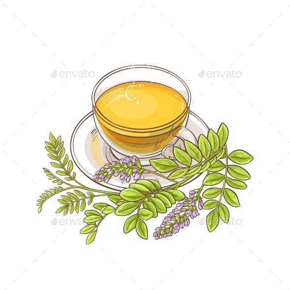 Licorice Tea Illustration - Health/Medicine Conceptual
