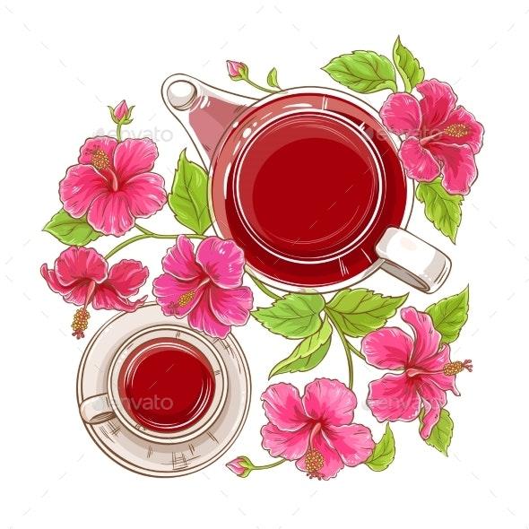 Hibiscus Tea Illustration - Health/Medicine Conceptual