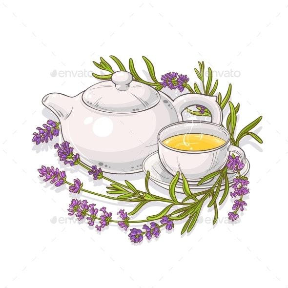 Lavender Tea Illustration - Health/Medicine Conceptual
