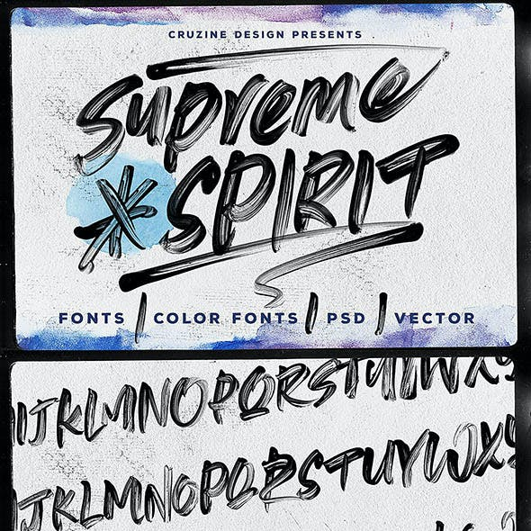 Supreme Spirit Brush Font