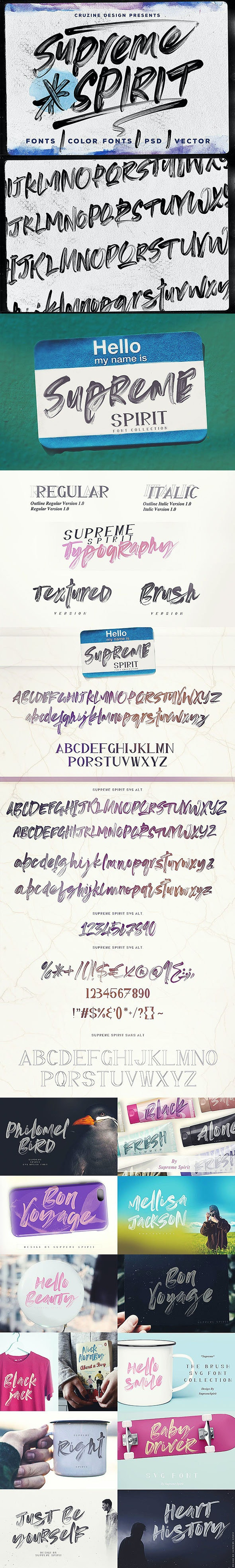 Supreme Spirit Brush Font - Miscellaneous Script