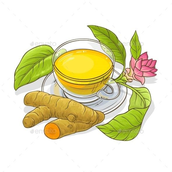 Turmeric Tea Illustration - Food Objects