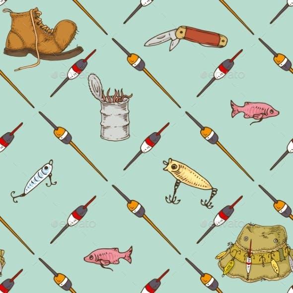 Fishing Seamless Pattern