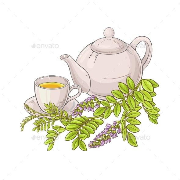 Licorice Tea Illustration - Health/Medicine Conceptual