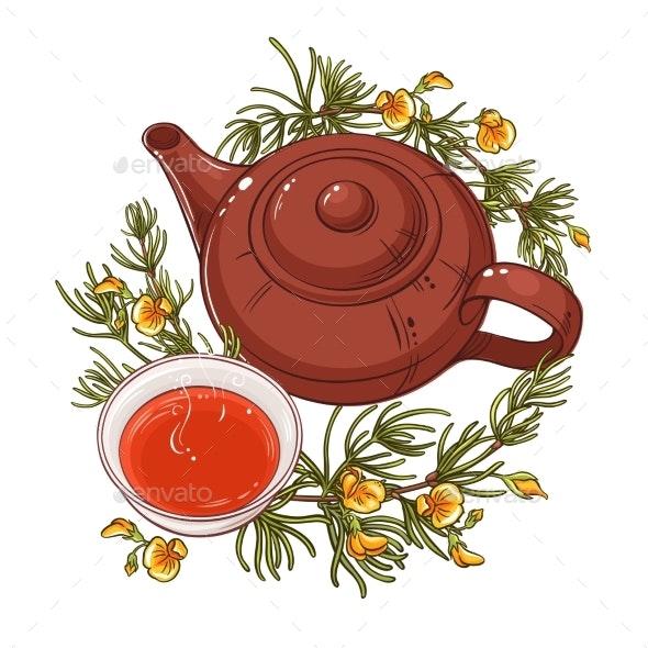 Rooibos Tea Illustration - Food Objects