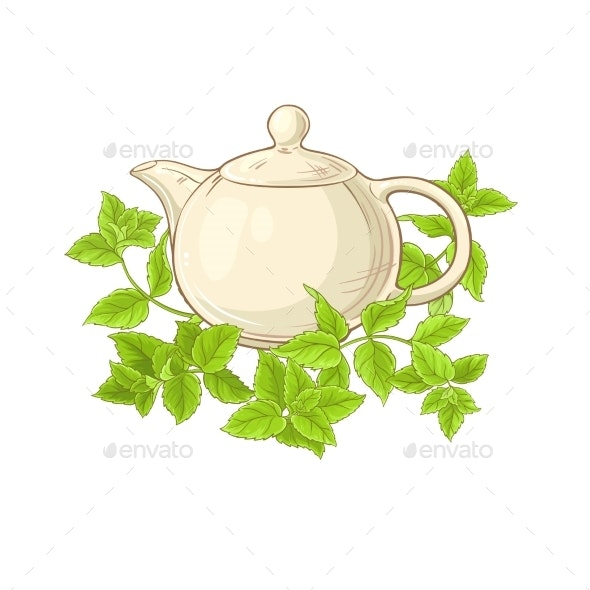 Peppermint Tea Vector - Food Objects