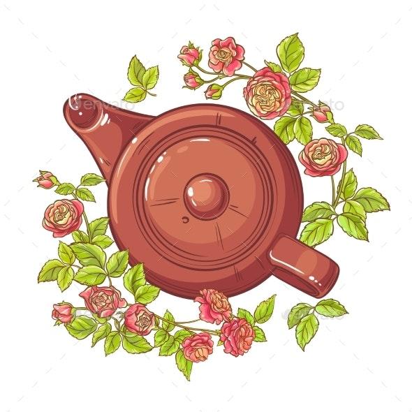 Rose Tea Illustration - Food Objects