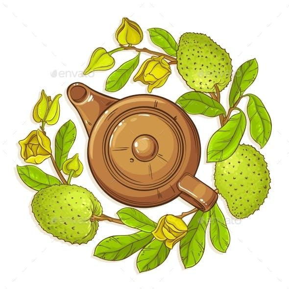 Soursop Tea Illustration