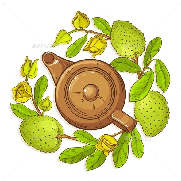 Soursop Tea Illustration - Food Objects
