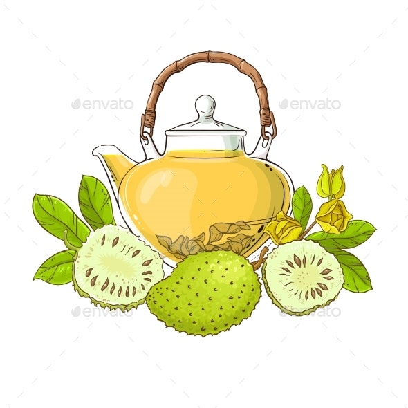 Soursop Tea Illustration - Food Objects