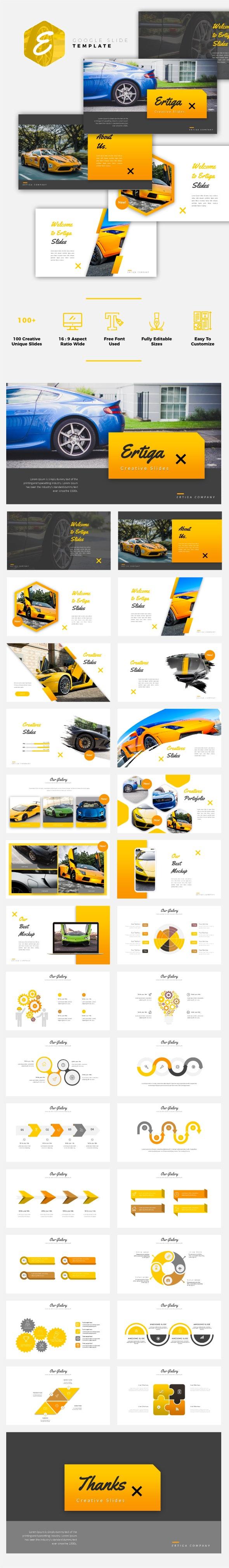 Ertiga - Sport Car Google Slides Template - Google Slides Presentation Templates