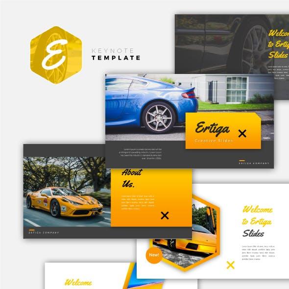 Ertiga - Sport Car Keynote Template