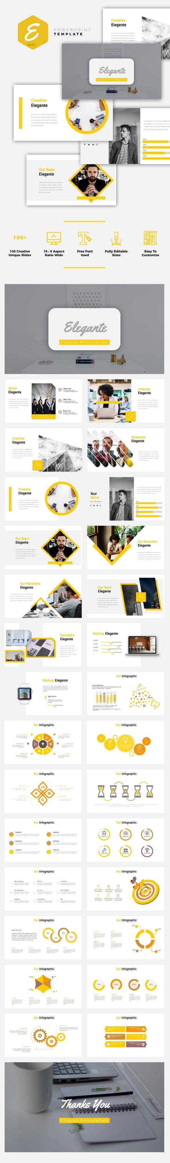 Elegante - Business Powerpoint Template - Business PowerPoint Templates