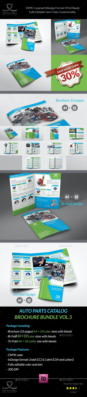 Auto Parts Catalog Brochure Bundle Template Vol.3 - Catalogs Brochures