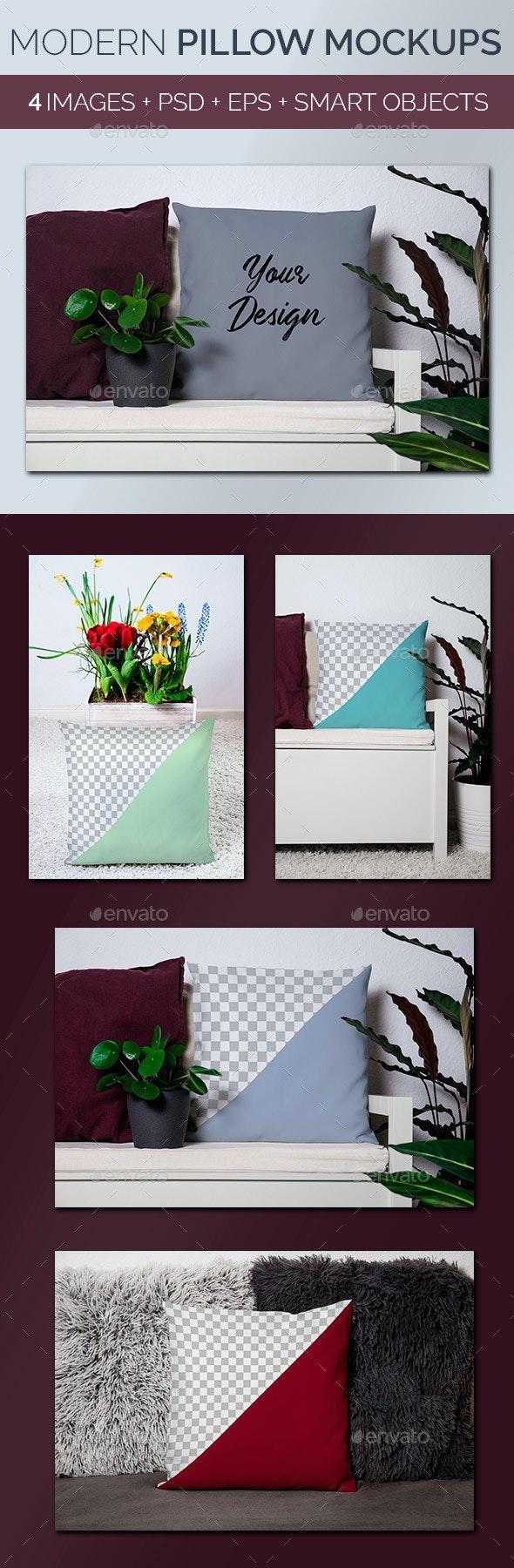 Modern Pillow Mockups - Miscellaneous Print