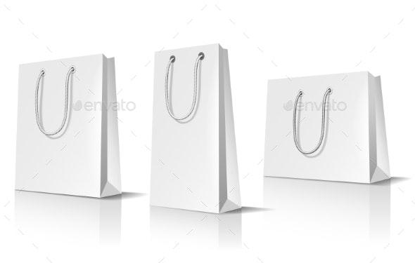 Realistic Bag Mockup Set - Man-made Objects Objects
