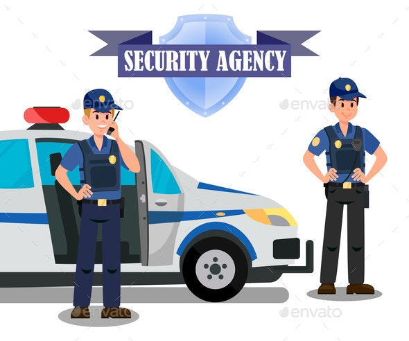 Security Agency Officers Task Banner Template - Industries Business