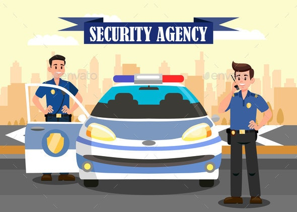 Security Agency Advertising Flat Banner Template - Industries Business
