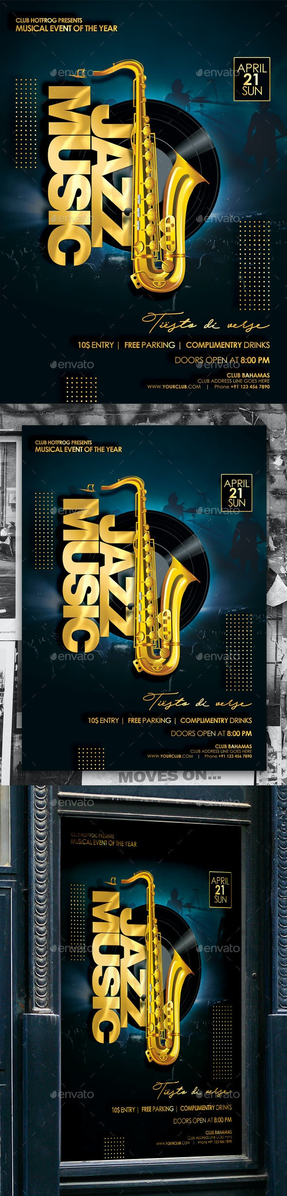 Jazz Music Poster - Events Flyers