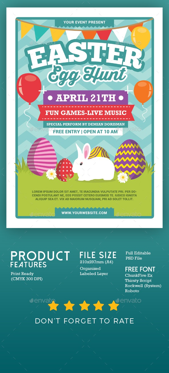 Easter Egg Hunt - Events Flyers