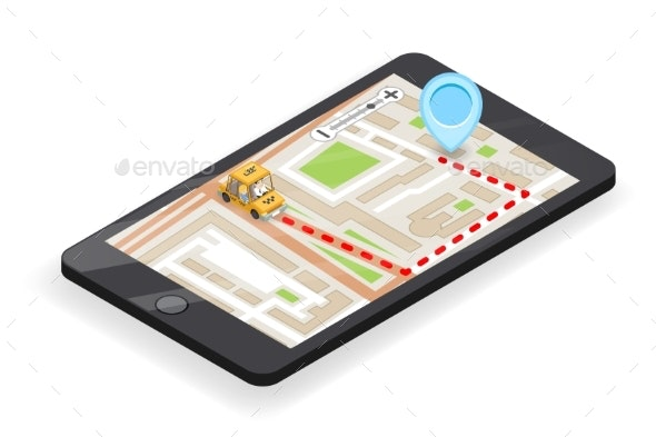 Taxi Smartphone App Phone Call - Services Commercial / Shopping