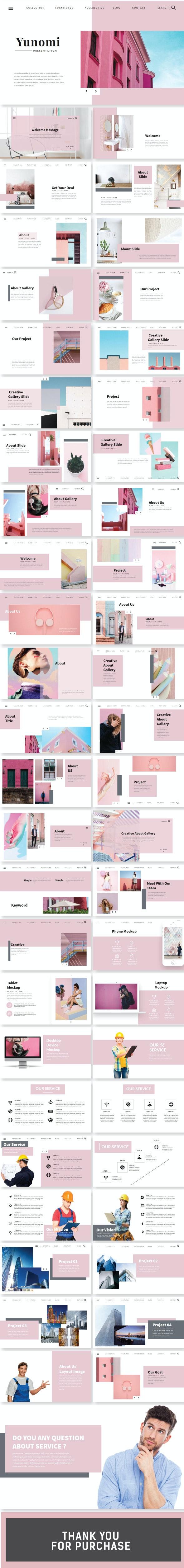 Yunomi Google Slide - Google Slides Presentation Templates