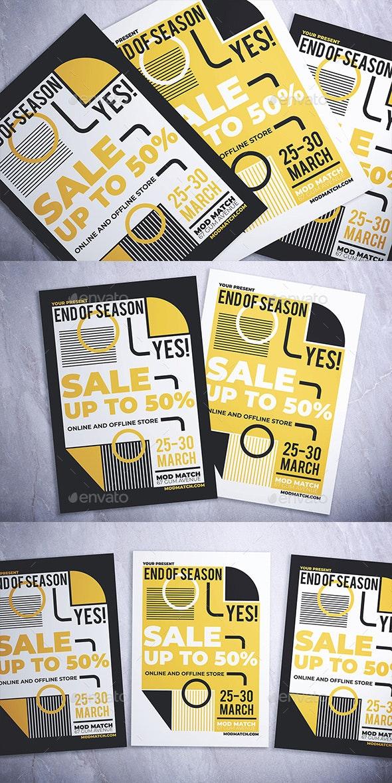 Geometric Sale Flyer - Flyers Print Templates