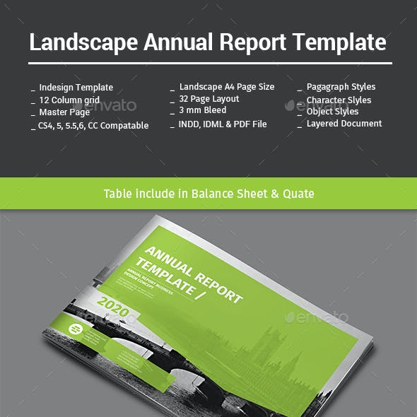 Landscape Annual Report Template