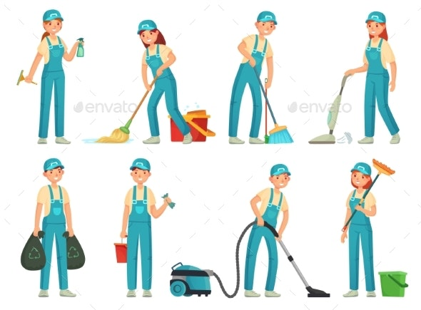 Cleaning Workers Professional Cleaning Staff - Services Commercial / Shopping