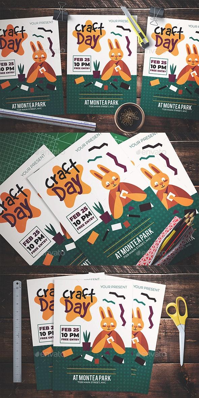 Craft Day Flyer - Flyers Print Templates