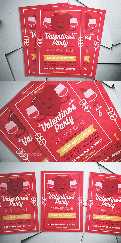 Valentine Party Flyer - Flyers Print Templates