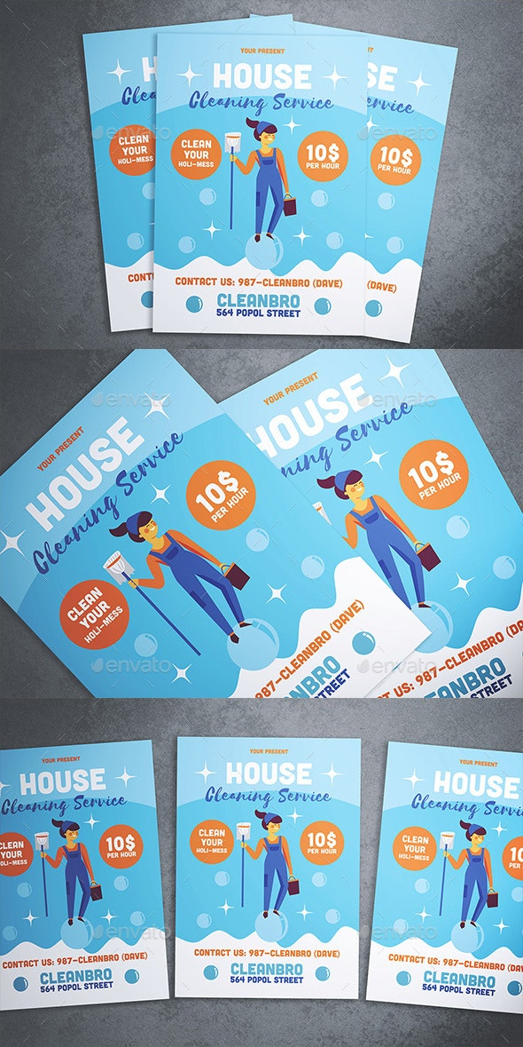 House Cleaning Service Flyer - Flyers Print Templates