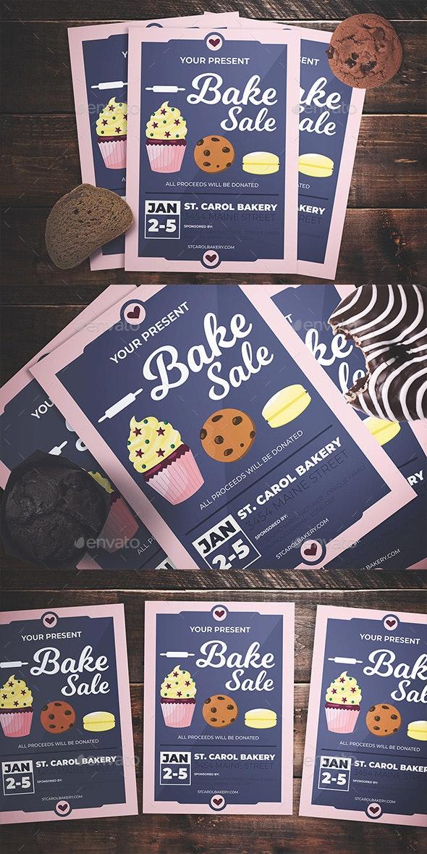 Bake Sale Flyer - Flyers Print Templates