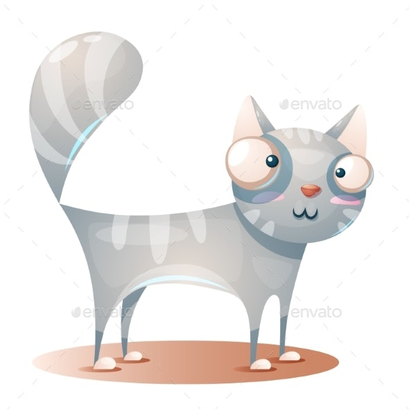 Cat Character Cartoon Illustration - Animals Characters