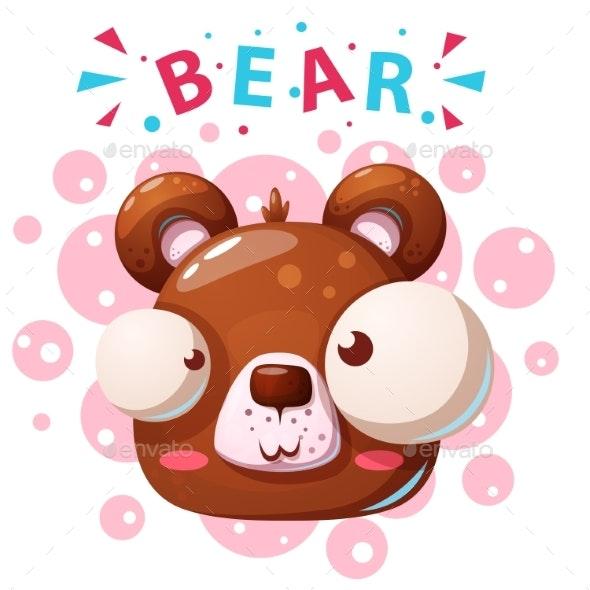 Bear Character Cartoon Illustration - Animals Characters