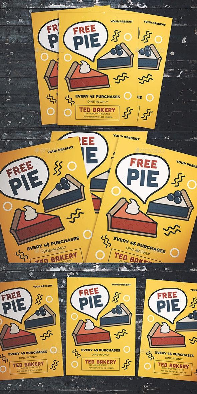 Free Pie Flyer - Flyers Print Templates