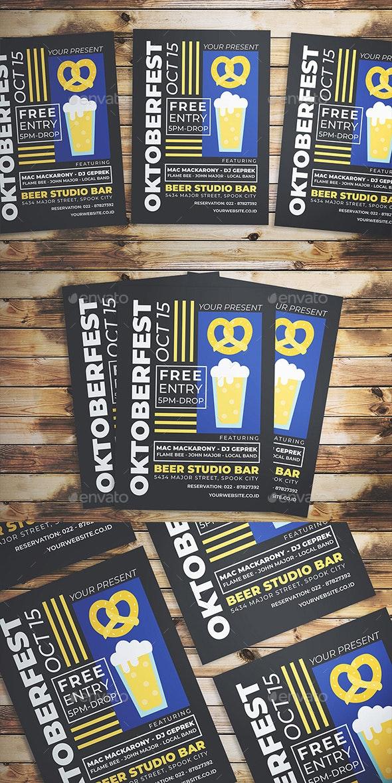Oktoberfest Event Flyer - Flyers Print Templates