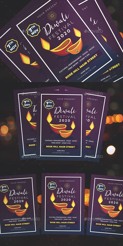 Diwali Fest Flyer - Flyers Print Templates