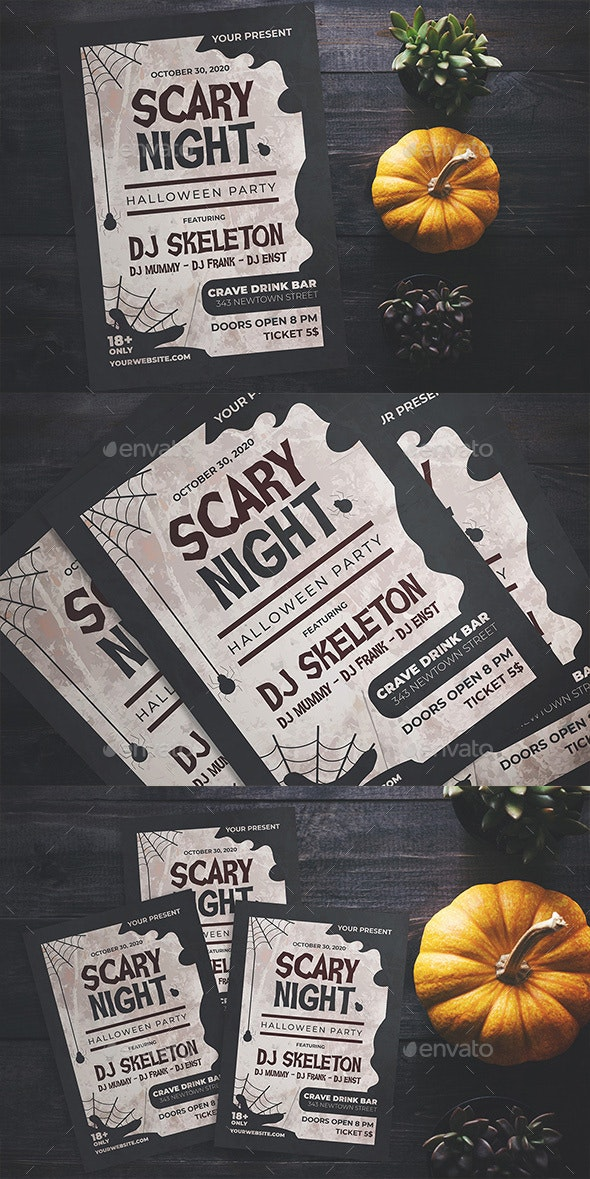 Scary Night Party Flyer - Flyers Print Templates