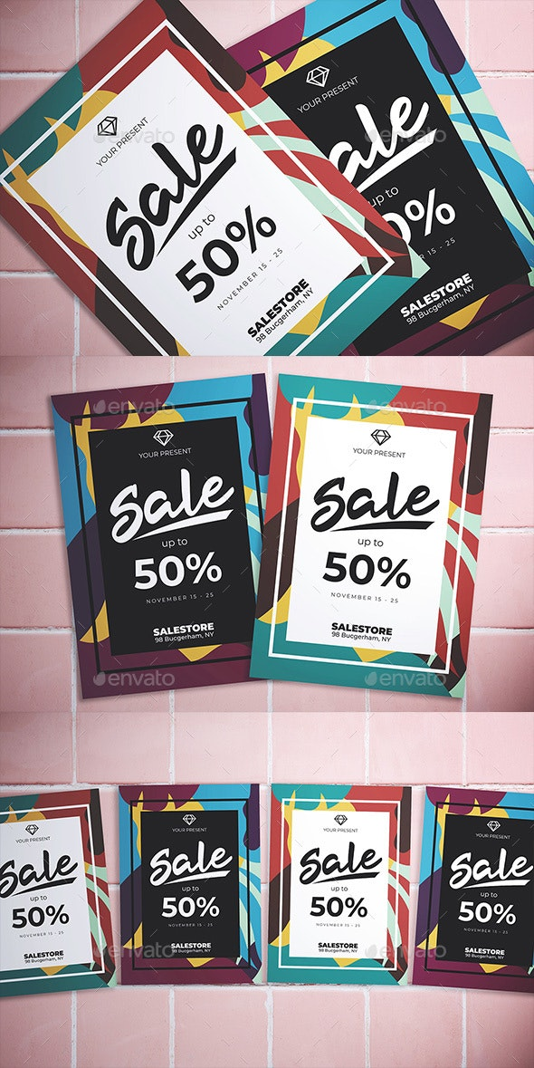 Abstract Sale Flyer - Flyers Print Templates