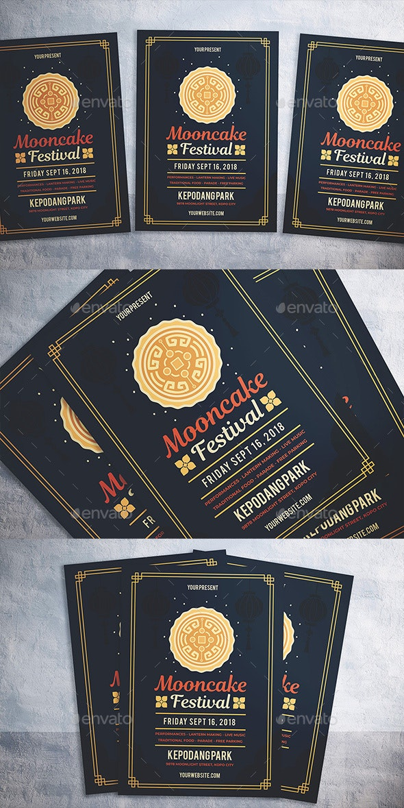 Mooncake Festival Flyer - Flyers Print Templates